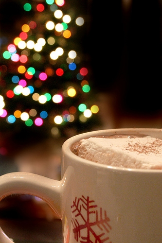 black and white, christmas, and cup image