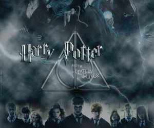 deathly hallows, harry potter, and hermione granger image