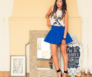 blue, fashion, and skirts image