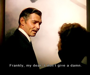 Gone with the Wind, quotes, and movie image