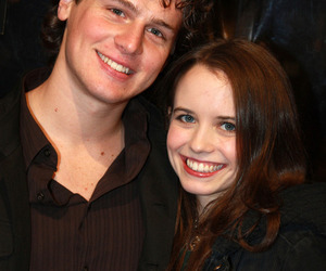 couple, jonathan groff, and phoebe strole image
