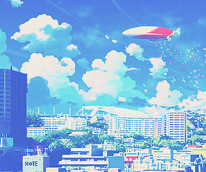 anime, scenery, and sky image