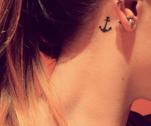 anchors, earing, and girl image
