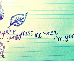gone, miss, and song image