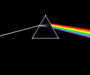 Pink Floyd, music, and rainbow image