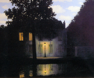 art, house, and rene magritte image