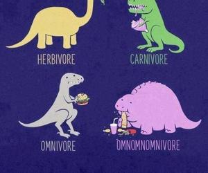 dinosaur, funny, and food image