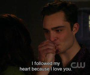 chuck, chuck bass, and love image