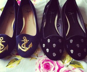 shoes, anchor, and skull image