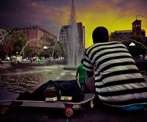 boy, skate, and water image