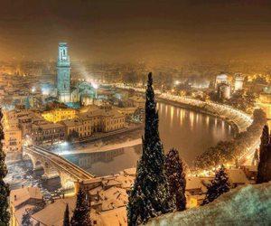 italy, verona, and snow image