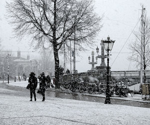 amsterdam, black and white, and couple image
