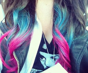 colourful, hair, and wavy image