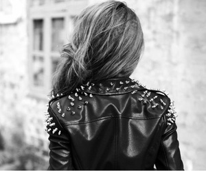 girl, jacket, and hair image