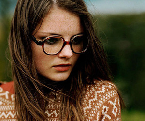 girl, glasses, and photo image