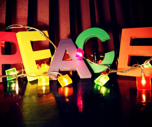 peace, light, and colorful image