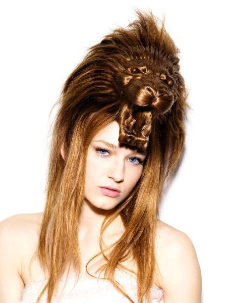 girl, hair, and lion image