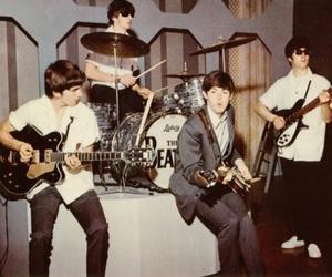 the beatles, john lennon, and george harrison image