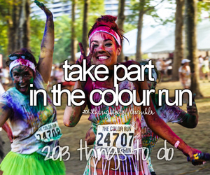 colour and run image