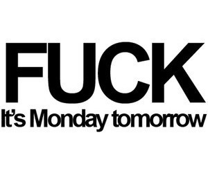fuck, monday, and text image