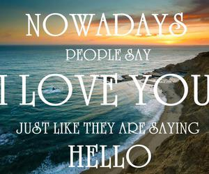 text, love, and hello image