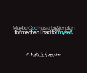 A Walk to Remember, god, and quote image