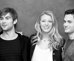 black and white, blake lively, and Chace Crawford image