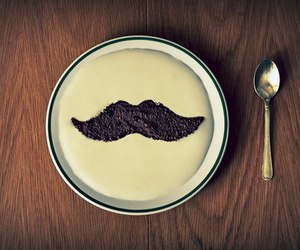 mustache, moustache, and food image