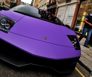 car, purple, and Lamborghini image