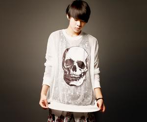 ulzzang, jang hyun, and skull image