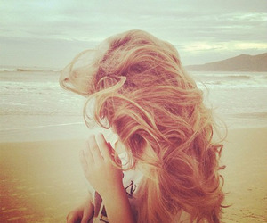 beach, blond, and perfect image