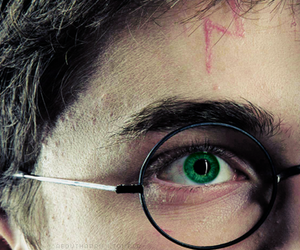 harry potter, scar, and eyes image