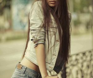 girl, hair, and long hair image