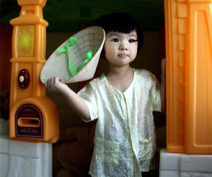 cute baby and Vietnam image