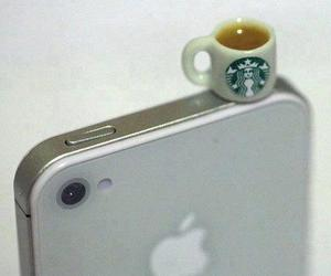 iphone, starbucks, and phone image