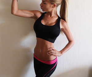 model, muscles, and skinny image