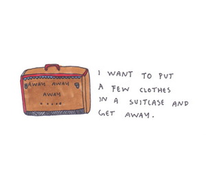 travel, suitcase, and get away image