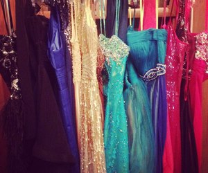 dress, girly, and out image