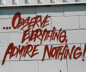 admire, nothing, and wall image