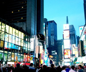 city, crowd, and night image