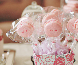 macaroons, pink, and sweet image