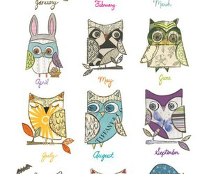 owl, month, and april image