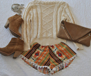 fashion, aztec, and outfit image
