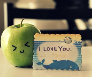 love, cute, and apple image