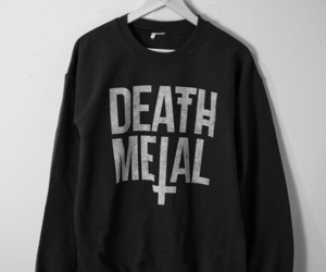 black, death metal, and sweater image