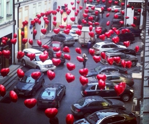 love, heart, and car image