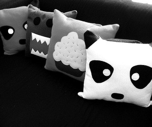 cute, panda, and pillow image