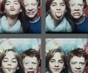 hermione granger, ron weasley, and young love image
