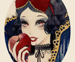 snow white, vampire, and disney image