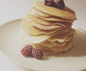berries, pancake, and day image